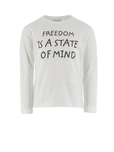 "T-SHIRT MANICA LUNGA STAMPA ""FREEDOM IS A STATE OF MIND"""