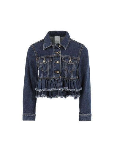 GIUBBOTTO DENIM JANE CON ROUCHES