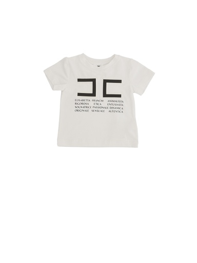 T-SHIRT CON STAMPA EMBOSSED